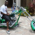 Plaxico Burress Takes His Chopper Out for a Spin