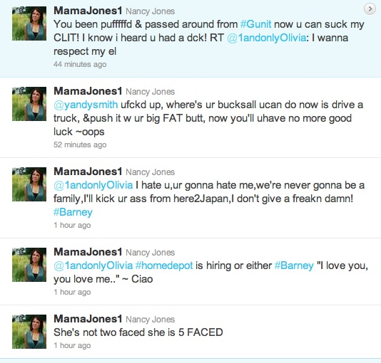 Mama-Jones-tweet-2012 Love & Hip Hop's Mama Jones & Olivia Exchange Words On Twitter