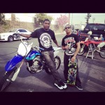 Meek Mill & Chino Out LA Riding Dirt Bikes (They Wheelie The Entire 7th Street Bridge) (Video)