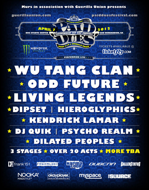 paid-dues-2012 Paid Dues 2012 Lineup Revealed (Wu-Tang, Dipset, Odd Future & More)