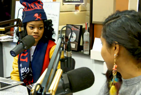 teyana_taylor_breakfast_club Teyana Taylor Talks About Signing To G.O.O.D. Music, Lesbianism, Dating Brandon Jennings & More (Video)