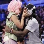 Lil Wayne & Nicki Minaj Kiss + Weezy Displays His Diamond Encrusted Beats By Dre (Photo Inside)