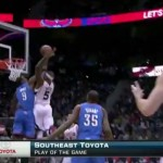 Josh Smith Dunks On Serge Ibaka Something CRAZY!!! (Video)