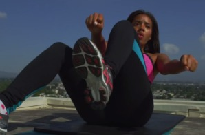 Angela Simmons working out with Trainer Mike T (Video)