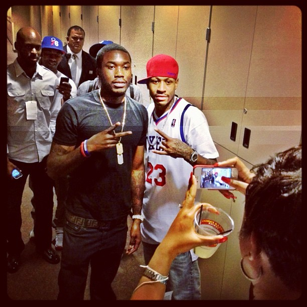 Meek Mill & Allen Iverson After The Sixers Game (Photo) (@MeekMill x @AllenIverson)