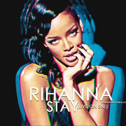"""Rihanna Performs """"Diamonds"""" & Her New Song """"Stay"""" on SNL ...  Rihanna Perform..."""
