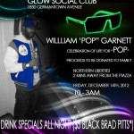 "Celebration of Life for William ""Pop"" Garnett Friday 12/14/12 @ Glow Social Club"