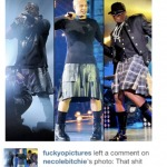 Chris Brown Comments On Kanye West Wearing A Skirt