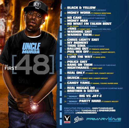 uncle-murda-48-mixtape-hosted-mike-epps-tracklist-back-cover-HHS1987-2013 Uncle Murda (@UncleMurda) – The First 48 (Mixtape) (Hosted By @TheRealMikeEpps)