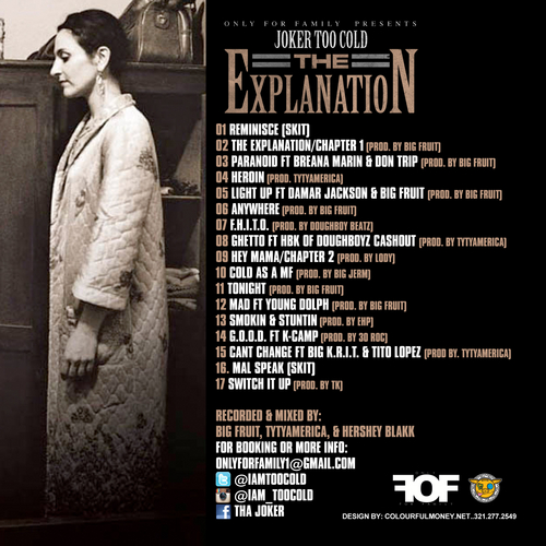 The_Explanation_Tha_Joker-back-large Tha joker (@iAmTooCold) - The Explanation (Mixtape) (Hosted by Only For Family)