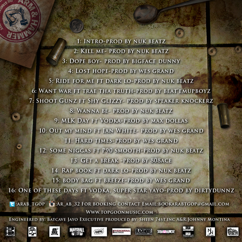 ar-ab-m-u-d-musik-motivation-under-distress-mixtape-tracklist-HHS1987-2013 AR-AB - M.U.D. Musik (Motivation Under Distress) (Mixtape)