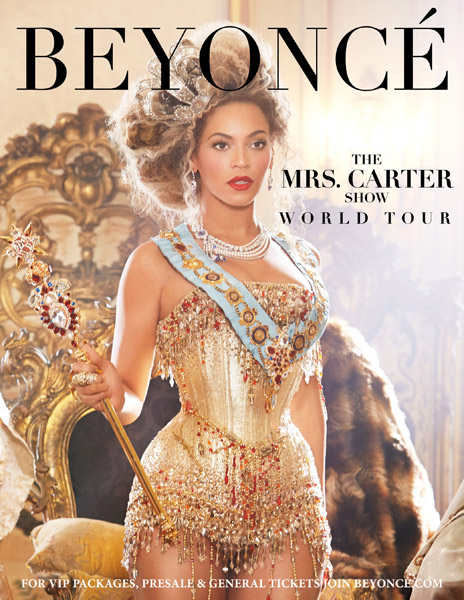Beyonce Announces The Mrs. Carter Show Tour