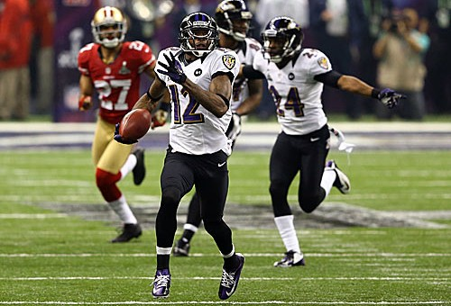 Jacoby Jones 108 – Yard Super Bowl Kickoff Return (Video)