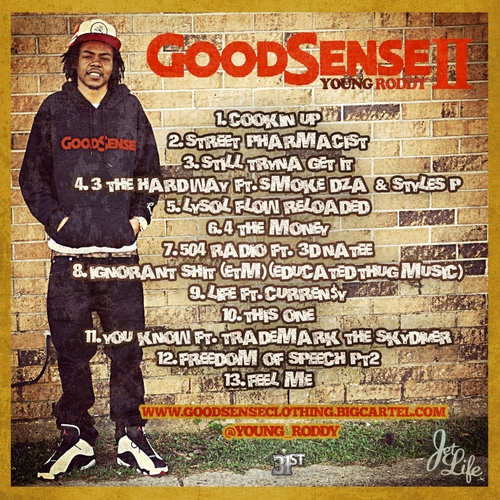 Young_Roddy_Good_Sense_2-back-large Young Roddy (@Young_Roddy) - Good Sense 2 (Mixtape)