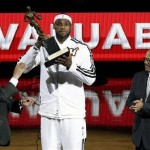 NBA Commissioner David Stern Presents Lebron With The MVP Trophy (Video)