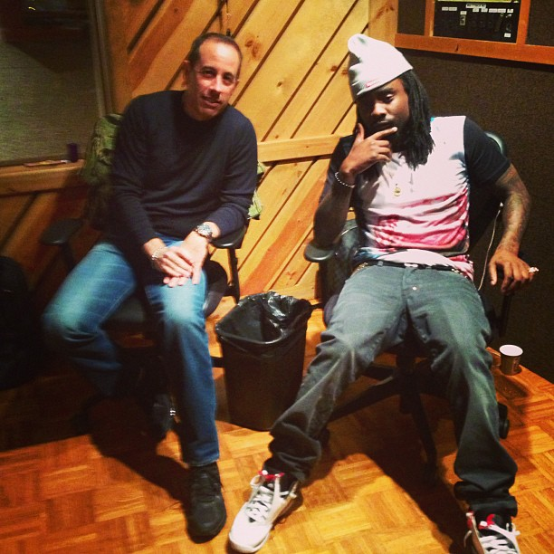 """Wale On Chill Feat Jeremih: Studio Session: Jerry Seinfeld & Wale Record The """"Outro"""