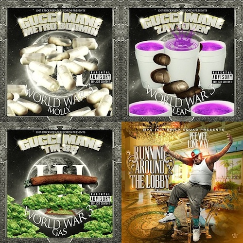 Gucci Mane - World War 3 (Molly, Gas, & Lean) (3 Part Mixtape) (Artwork)