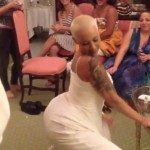 Shake What Your Mama Gave You: Amber Rose Twerks In Her Wedding Dress (Video)
