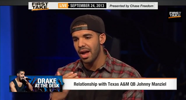 drake-espn Drake Takes On Stephen A. Smith & Skip Bayless on ESPN First Take (Video)