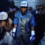 Lil Wayne & Justin Bieber Escort Floyd Mayweather To The Ring (Video)