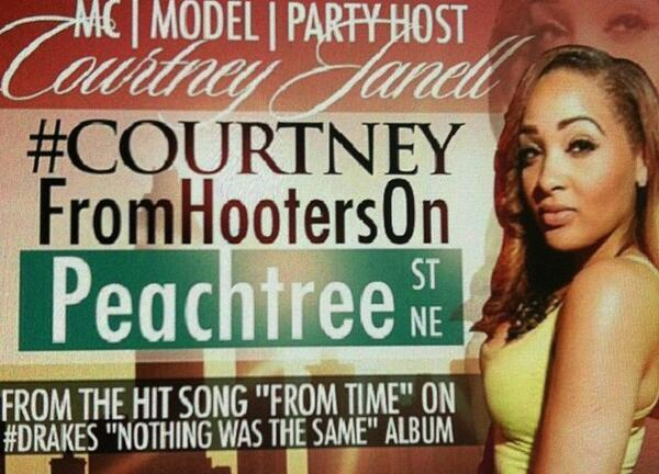 BWTlkSyCAAEP7on Meet Drake's Courtney From Hooters On Peachtree (Photo)