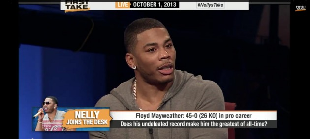 NELLYhhs1987 ESPN Welcomes Nelly On First Take Once Again (Video)