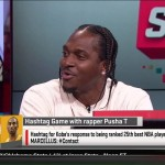 Pusha T Visits ESPN's SportsNation