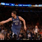 Love & Basketball: Kevin Love High-Fives Spike Lee After Making A Tough Basket (Video)