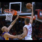 Rockets Forward Chandler Parsons Dunks On Lakers Big Man Chris Kamen (Video)
