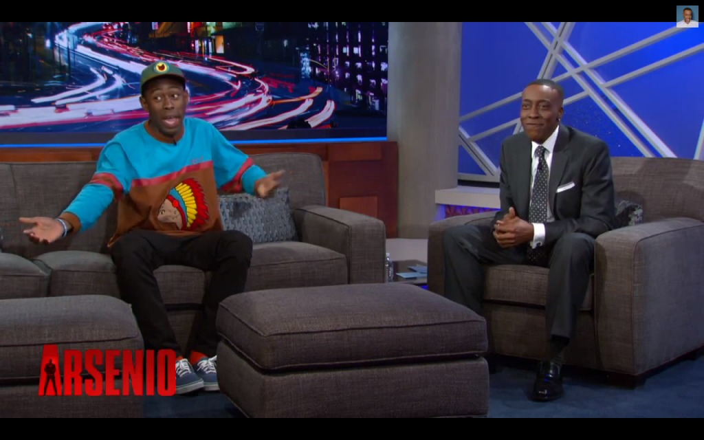 Screen-Shot-2013-11-08-at-8.46.45-AM-1024x640 Tyler The Creator Talks The Youtube Awards, President Obama & More with Arsenio Hall (Video)