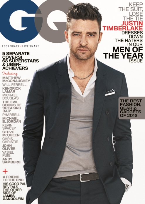 jtGQ Justin Timberlake Follows K.Dot's Lead And Takes Cover #2 Of GQ's Men Of The Year Issue