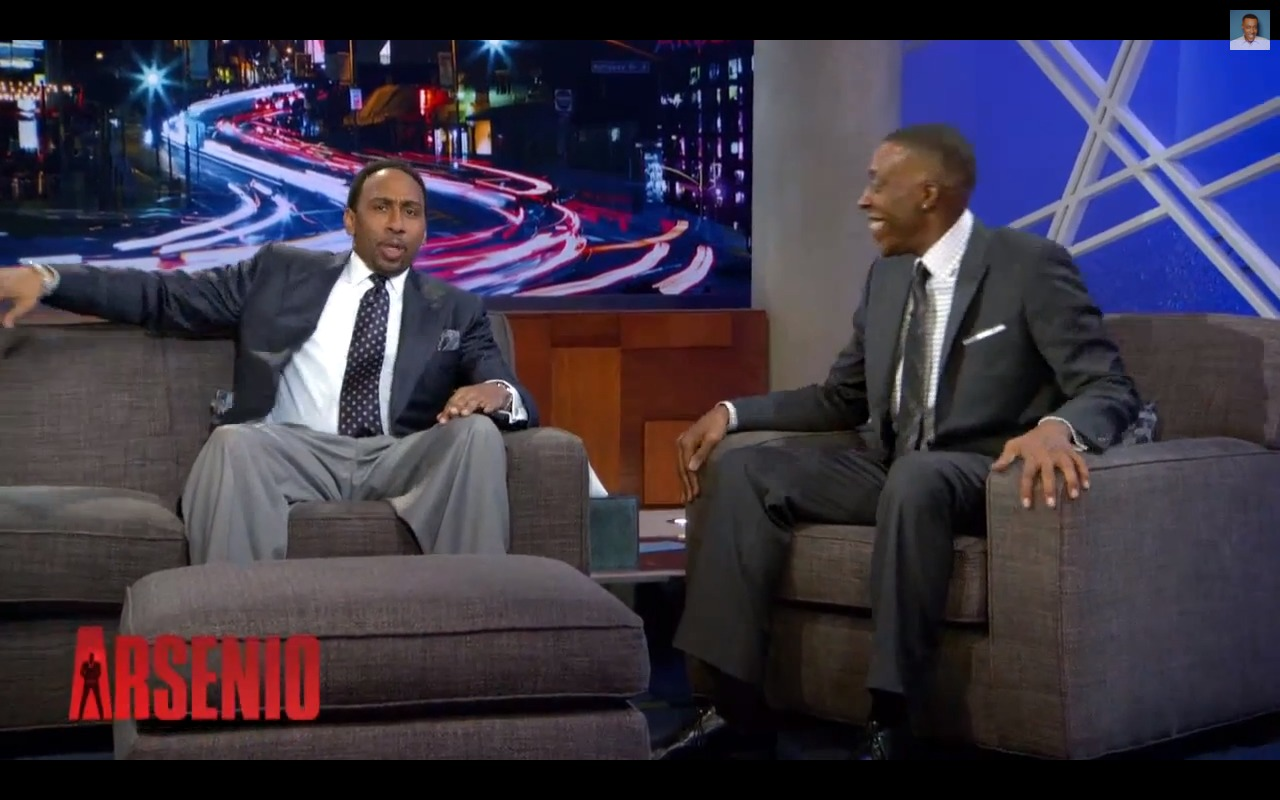 Screen-Shot-2013-12-13-at-12.13.16-PM Stephen A Smith Addresses Jim Brown's Kobe Comments with Arsenio Hall (Video)