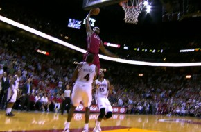 Lebron Takes Off on Atlanta Hawks Big Man Paul Milsap (Video)
