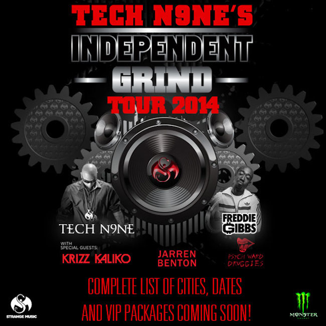 950_1390425392_techn9netour_650_56 Freddie Gibbs Set To Join Tech N9ne For His 'Independent Grind' Tour