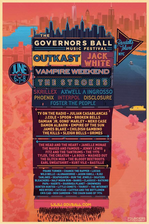 LUPskvk 2014 Governors Ball Music Festival Lineup