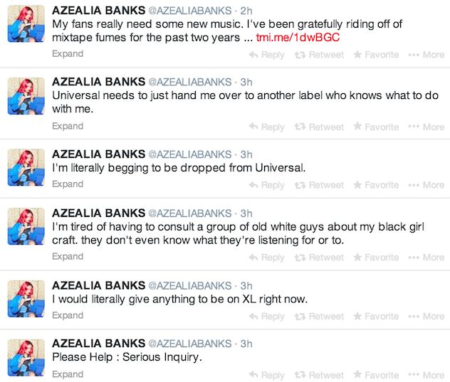 a1 Azealia Banks Wants To Leave Universal, Admits She Should Have Signed With Sony