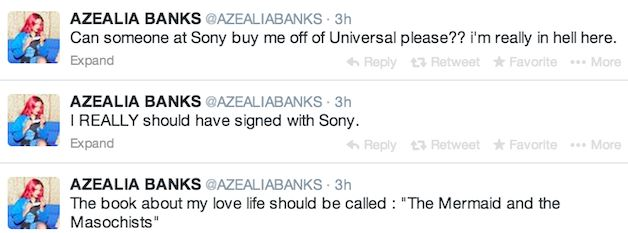 a2 Azealia Banks Wants To Leave Universal, Admits She Should Have Signed With Sony