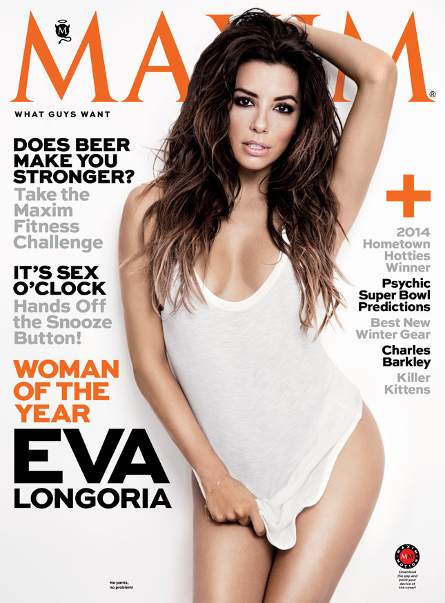 elcoversmaxium Eva Longoria Covers Maxim's First Issue Of The New Year (Photo)