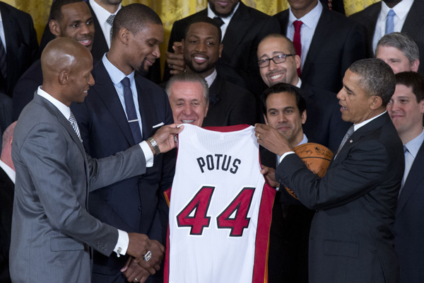 heat-white-house-header Presidential Heatles: The Miami Heat Visit the White House (Video)