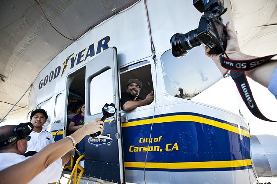 ic1 Yesterday Was A Good Day: Ice Cube Gets His Name On A Good Year Blimp (Photos)