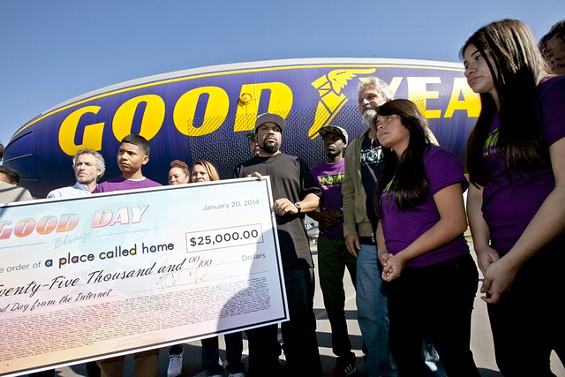 ic3 Yesterday Was A Good Day: Ice Cube Gets His Name On A Good Year Blimp (Photos)