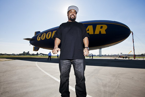 ic4 Yesterday Was A Good Day: Ice Cube Gets His Name On A Good Year Blimp (Photos)