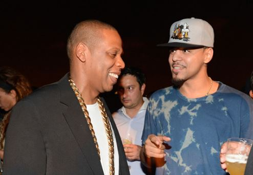 jayzjcolerocchain Jay Z Blesses J. Cole With His Original Roc A Fella Chain (Video)