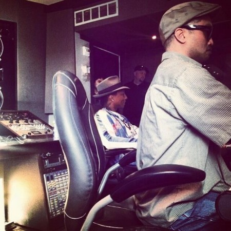 n1 Pusha T Begins His Begins 20-Day Studio Session With The Neptunes (Photos)