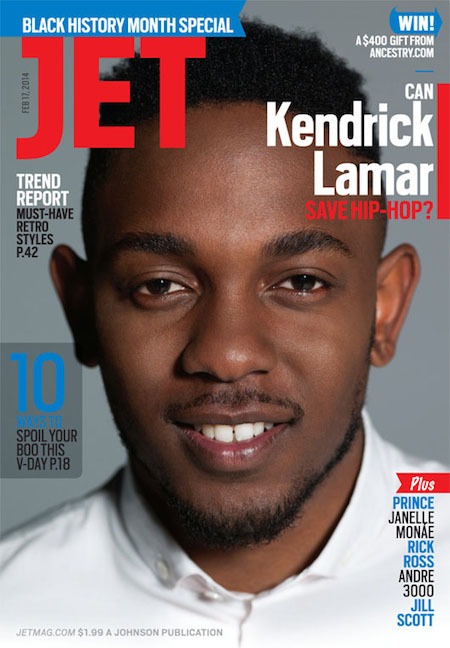 qswICYo Kendrick Lamar Covers Jet Magazine's February '14 Issue (Photo)