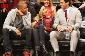 Super Bowl Hangover: Russell Wilson Joins Jay Z & Beyonce courtside in Brooklyn (Photo)
