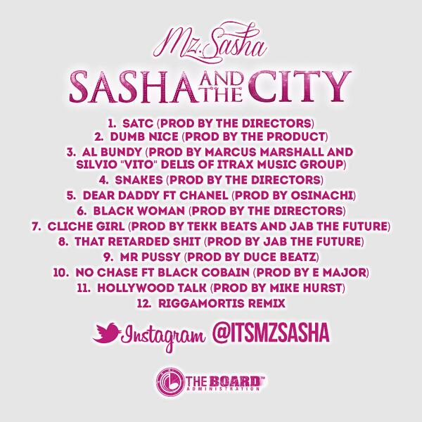 BgIbiVnCIAAKsqc Mz. Shasha - Sasha And The City (Mixtape) (Cover Art + Tracklist)