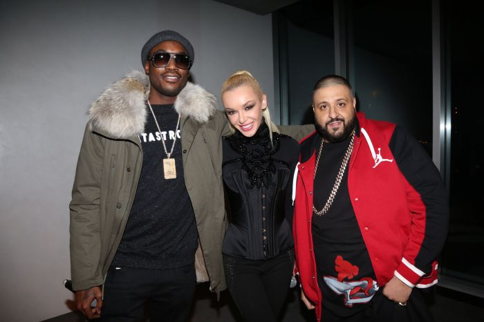 Just Ivy, Meek Mill & DJ Khaled(Photo Credit Johnny Nunez)
