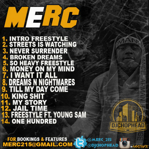MERC_My_Story-back-large Merc - My Story (Mixtape)