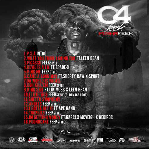 Pusha_Feek_C4_Feek-back-large Pusha Feek - C4 Feek (Mixtape)